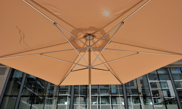 Large orange umbrella